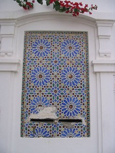 photo d'une maison en tunisie à Djerba, mosaique et faience